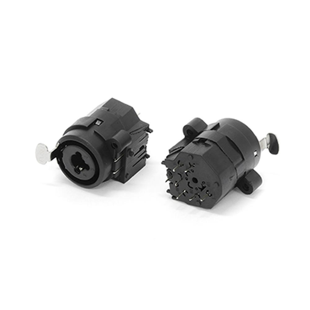 Conector Canon Femea x P10 Combo 180Graus