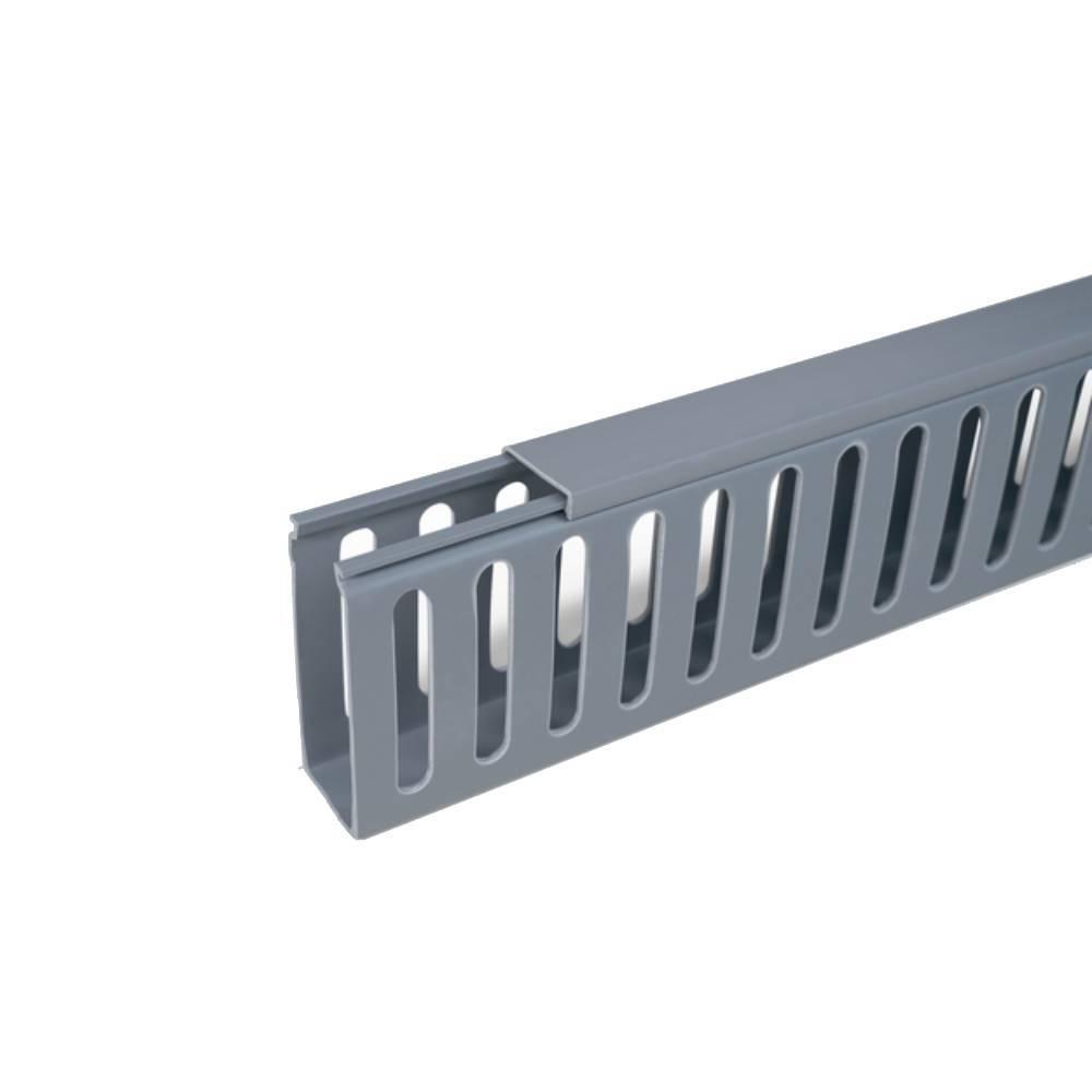 Conjunto de Canaleta 50x80 PVC - Barra Com 2mts - Cz - HD9PF