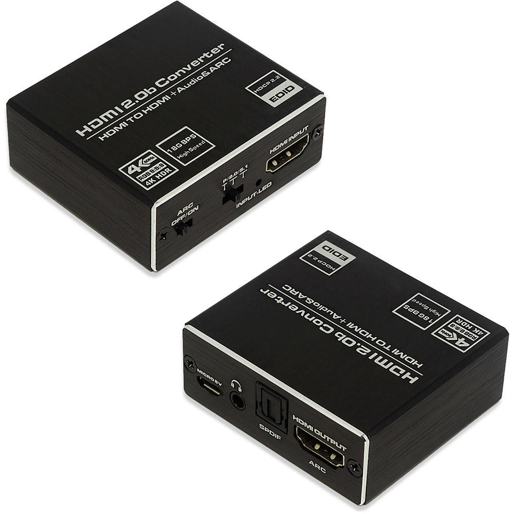 Extrator De Áudio HDMI / HDMI + Áudio Stereo(P2) - 4K