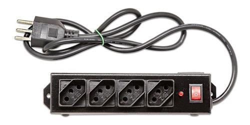 Filtro de Linha Metálico com 4 Tomadas - FLR4