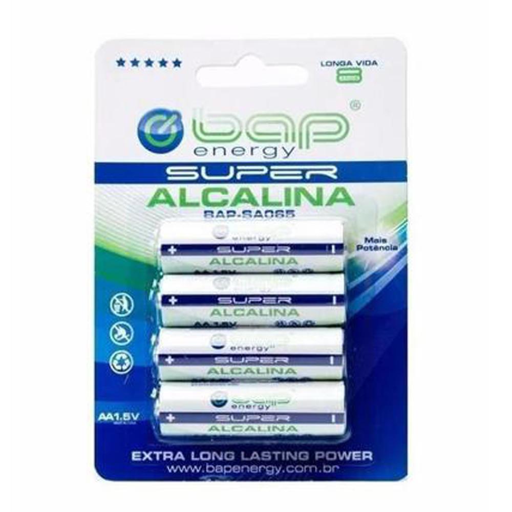 Pilha Alcalina AA 1,5V - 4 unidades - BAPSA065