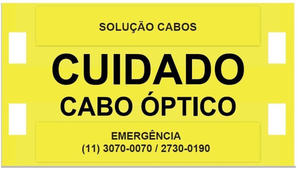 Placa de Identificação Óptica 90x50