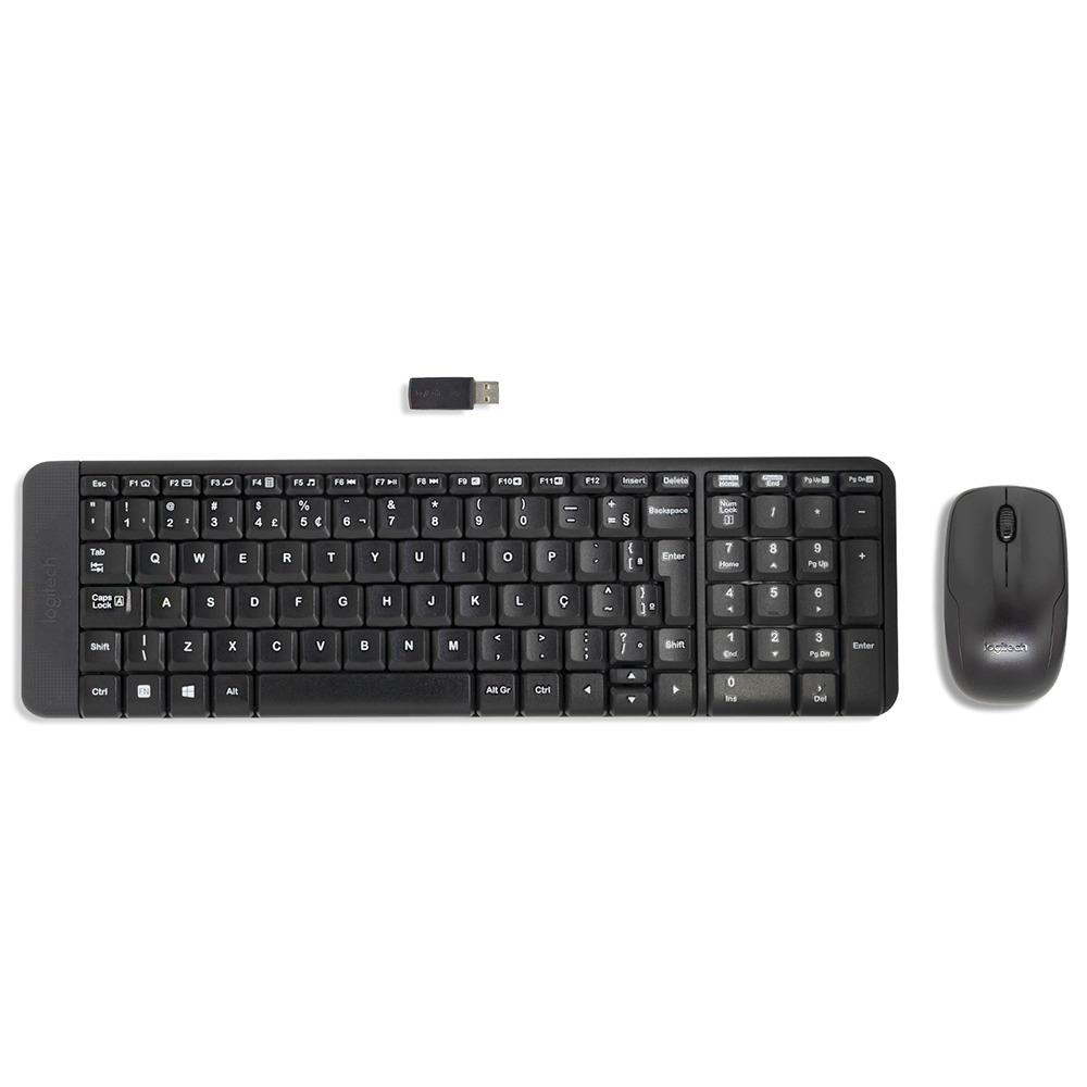 Teclado e Mouse Sem Fio Preto MK220