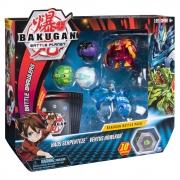 Bakugan - Batalha Bakugan - Haos Serpenteze & Ventus Howlkor - Azul E Vermelho