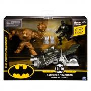 Batman - Veículo Batciclo Com Figura