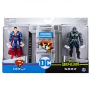 Dc - Figuras 10 Cm Com Vilão Superman / Darkseid