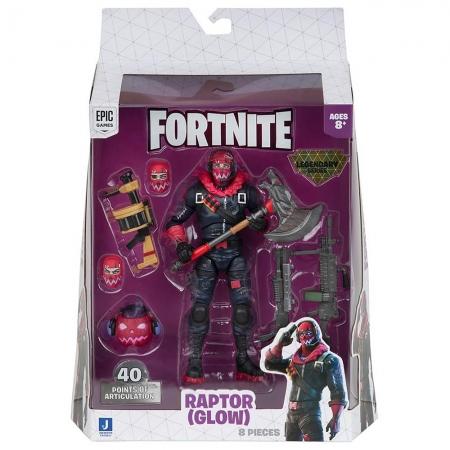 Fortnite - Legendários - Figuras 15 Cm - Raptor (Glow)