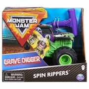 Monster Jam - Escala 1:43 - Spin Rippers - Grave Digger Roxo