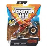 Monster Jam - Escala 1:64 - Miniveículo  -Zombie Laranja