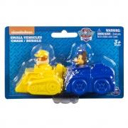 Patrulha Canina - Miniveículos Pack com 2 veículos - Rubble e Chase