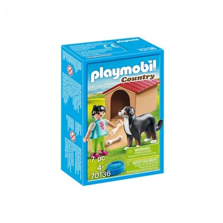 Playmobil - Cachorro com Casinha e Menina