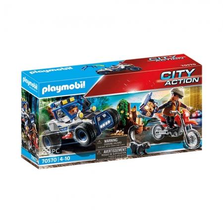 Playmobil - Carro Off-Road Da Polícia Com Bandido