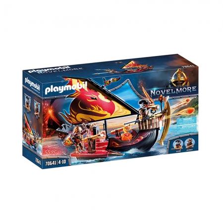 Playmobil - Corsário De Burnham Com Navio De Fogo