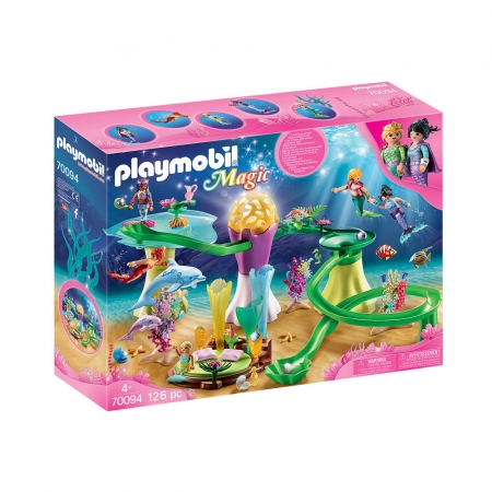 Playmobil - Enseada De Sereias Com Corais E Cúpula Iluminada