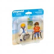 Playmobil - Figura Médico E Paciente