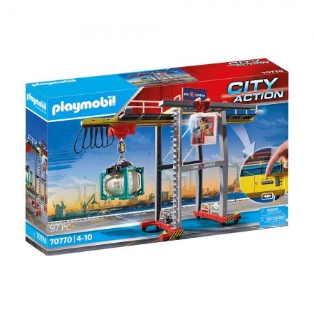 Playmobil - Guindaste de Carga com Conteiner