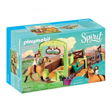 Playmobil - Lucky E Spirit Com Estábulo