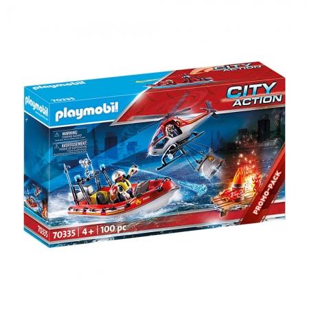 Playmobil - Missão De Resgate Bombeiros