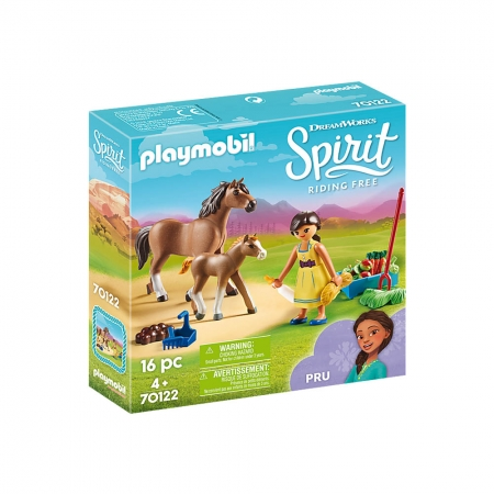 Playmobil - Pru Com Cavalo E Potro