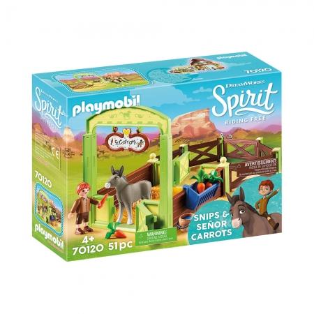 Playmobil - Snips E Señor Carrots Com Estábulo