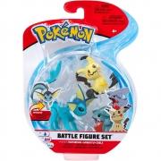Pokémon - 3 Figuras De Ação - Vaporeon + Mimikyu + Gible