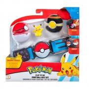 Pokémon - Cinto Com Pokébola - Pikachu - Preto e Vermelho