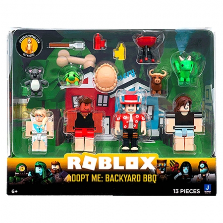 Roblox - Pack Com 4 Figuras - Adopt Me: Backyard BBQ