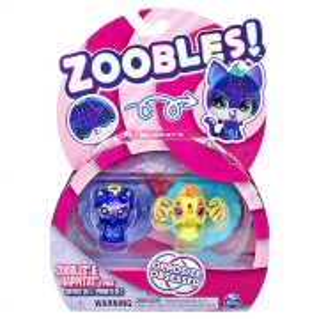 Zoobles - 2 figuras - Sunshine Elephant e Starlight Llhama