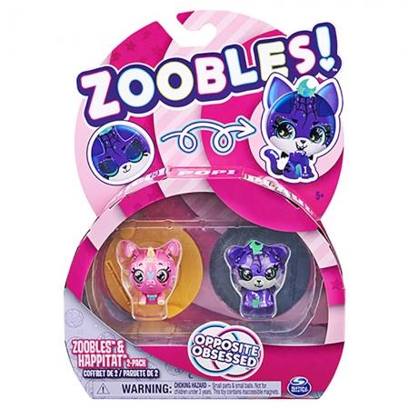 Zoobles - 2 figuras - Sweet Unicorn e Spooky Tiger