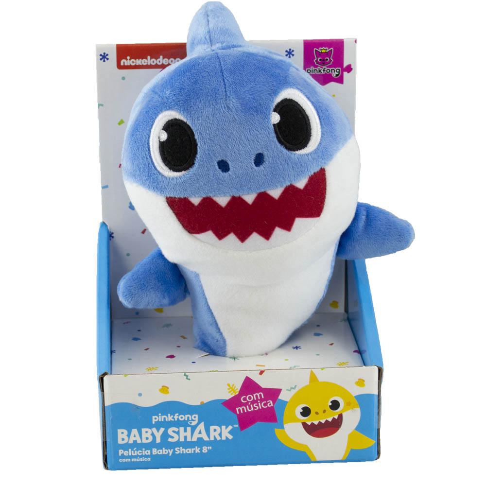 Baby Shark - Pelúcia de 20 cm com Música - DADDY