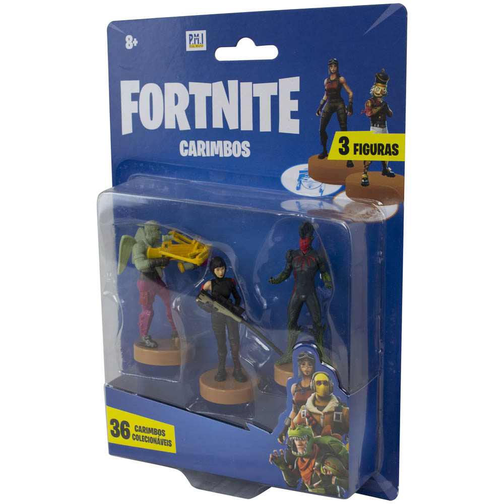 Fortnite - Carimbos Com 3 Figuras - Love Ranger, Flytrap E Shadow Ops