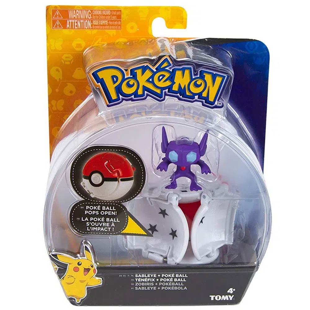 Pokémon - Conjunto De Pokébolas - Sableye + Pokébola