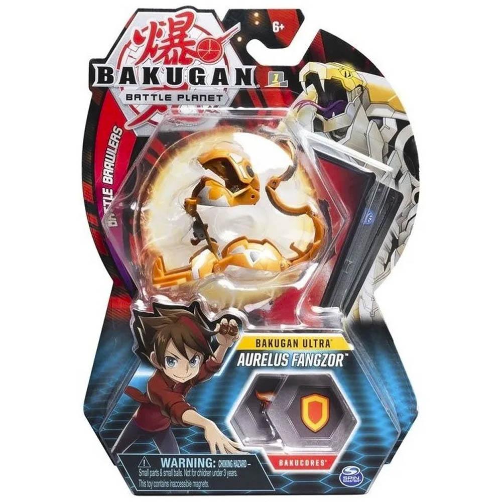 Bakugan - Figura De Batalha Deluxe - Aurelus Fangzor