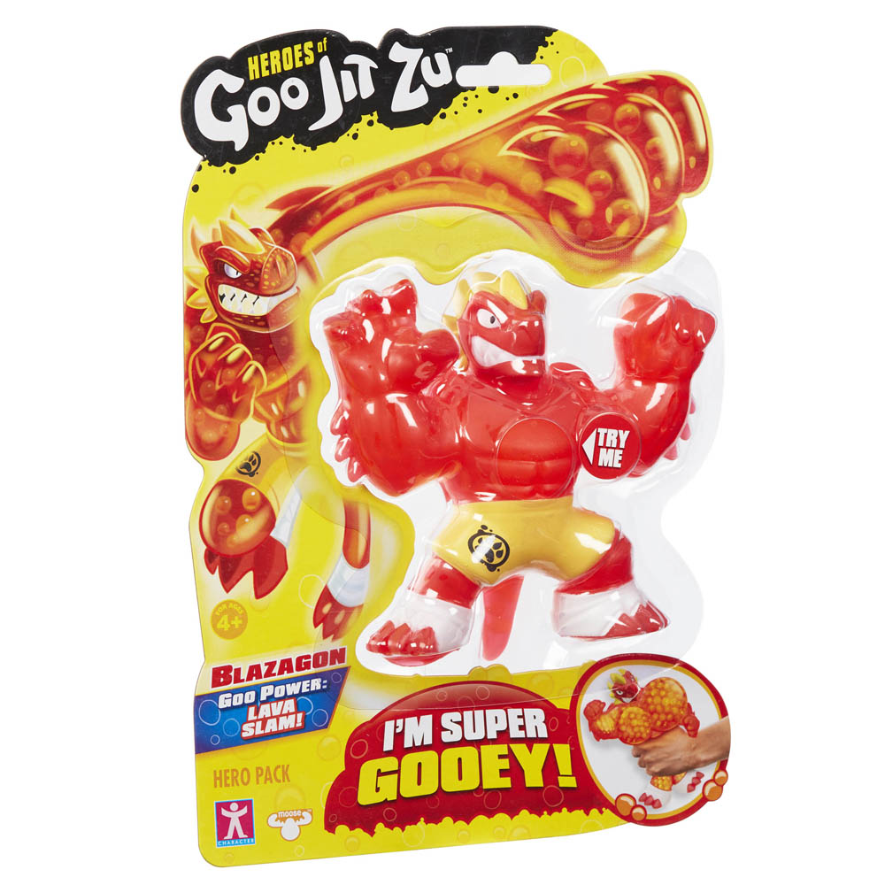 Figura Elástica - Heroes Of Goo Jit Zu - Blazagon