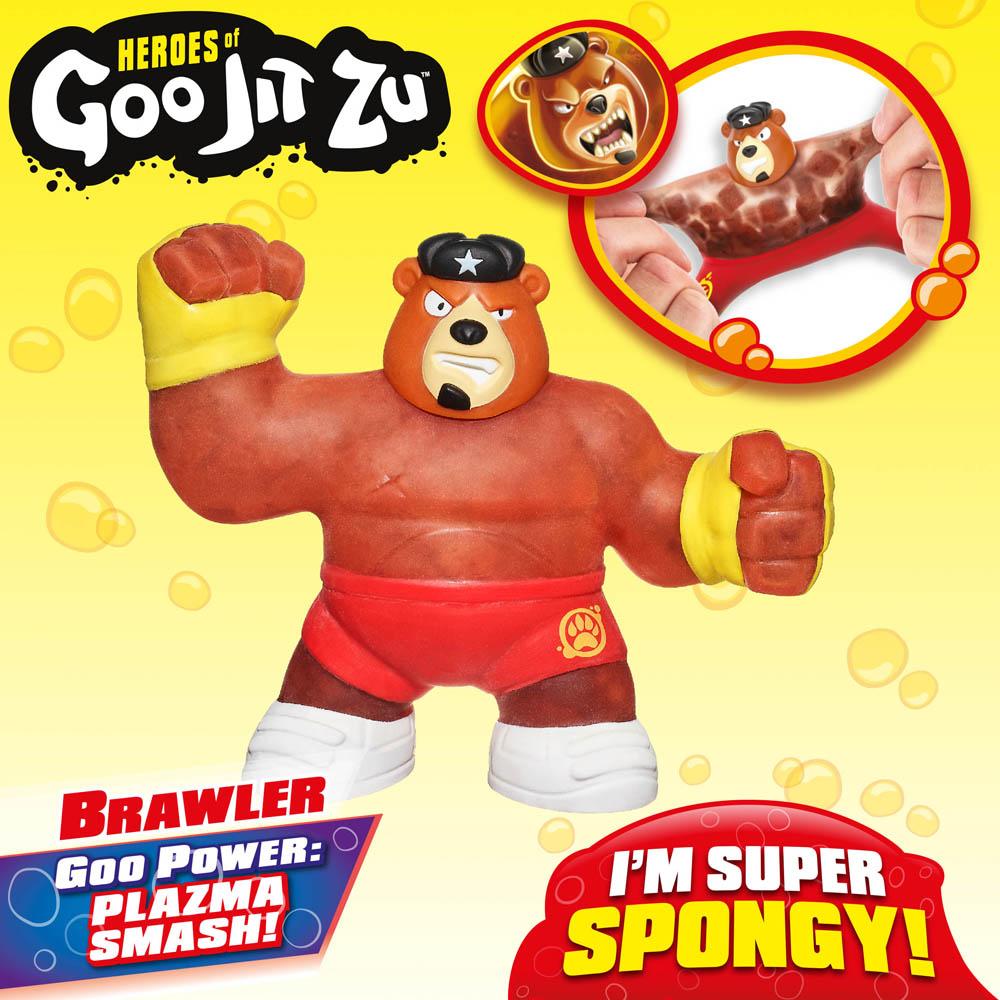 Figura Elástica - Heroes Of Goo Jit Zu - Brawler