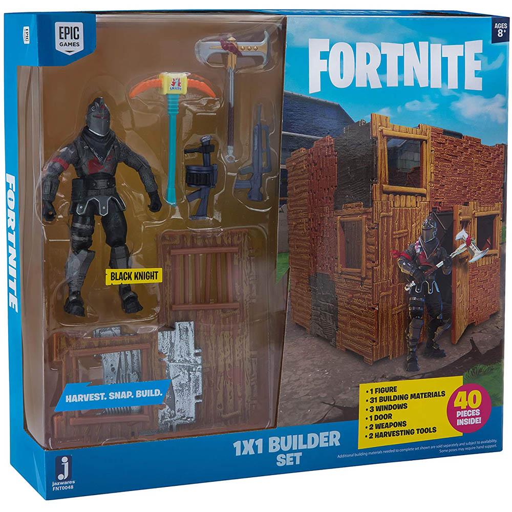 Fortnite - Pack Com 1 Figura Black Night Com Kit De Construção