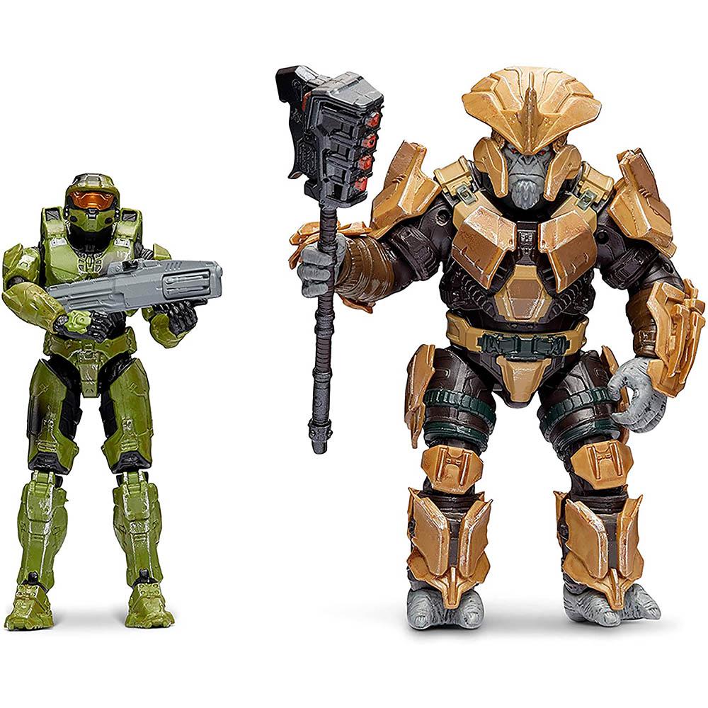 Halo - 2 figuras - Master Chief + Brute Chieftain