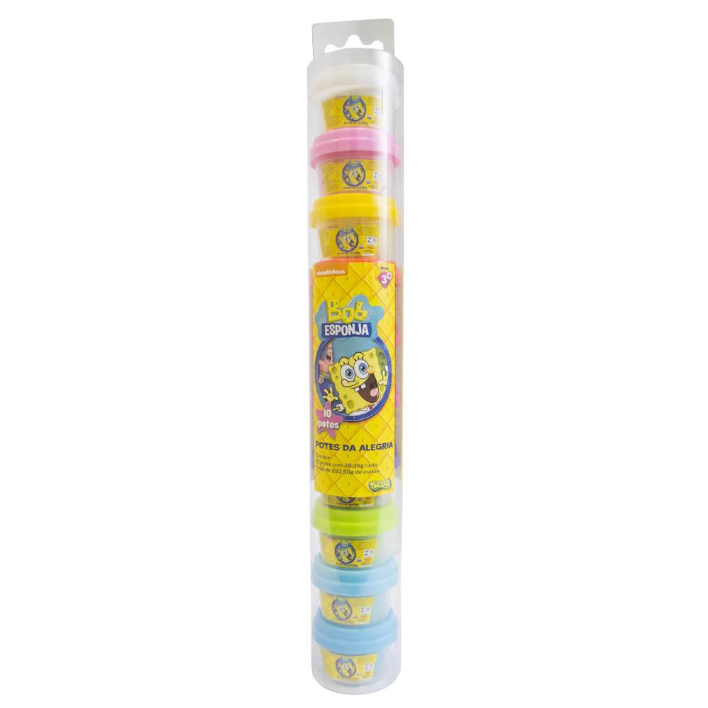Ki-Massa Bob Esponja -Tubo 10 Mini Potes - Sunny
