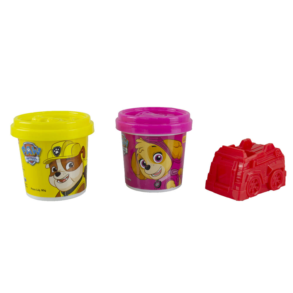 Ki-Massa Patrulha Canina - 2 potes - Rosa e Amarelo