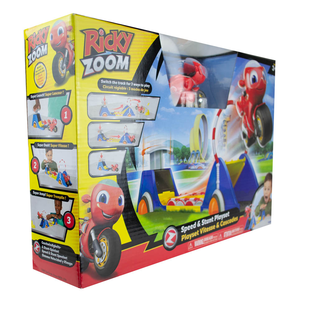 Kit Ricky Zoom - Pista De Lançamento + Figura