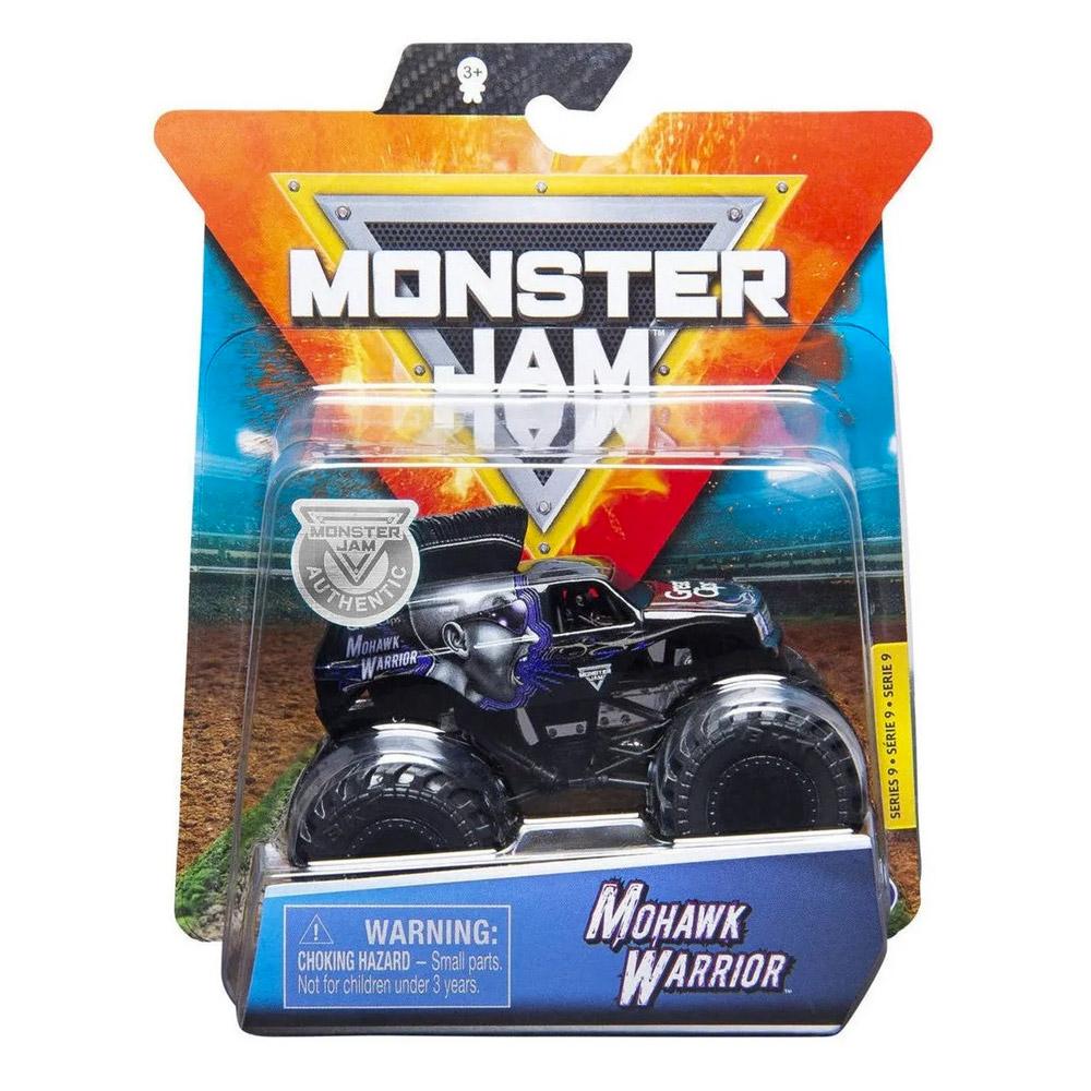 Monster Jam - Escala 1:64 - Miniveículo Monster Jam - Mohawk Warrior