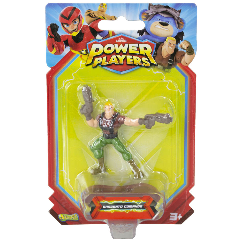 Power Players - Minifigura 5 Cm - Sarge