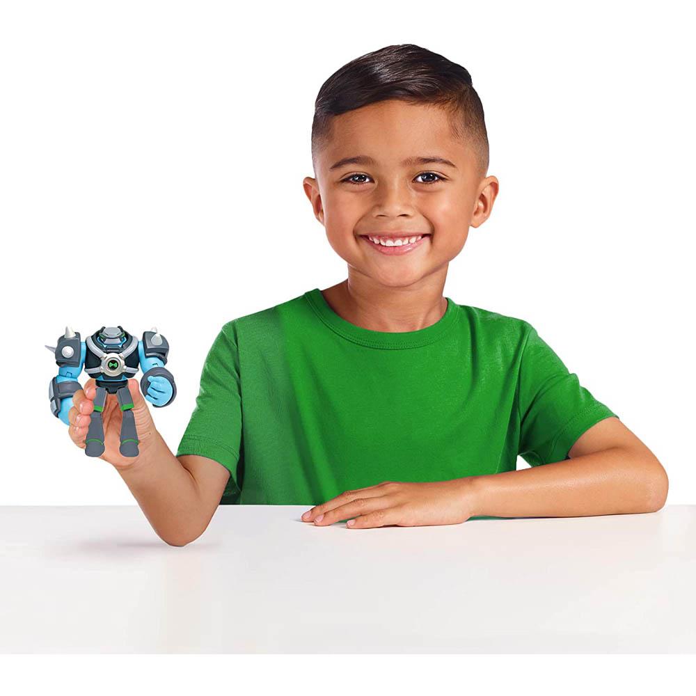 Ben 10 - Minifigura Articulada 10 Cm - Omini-Kix Choque Rochoso