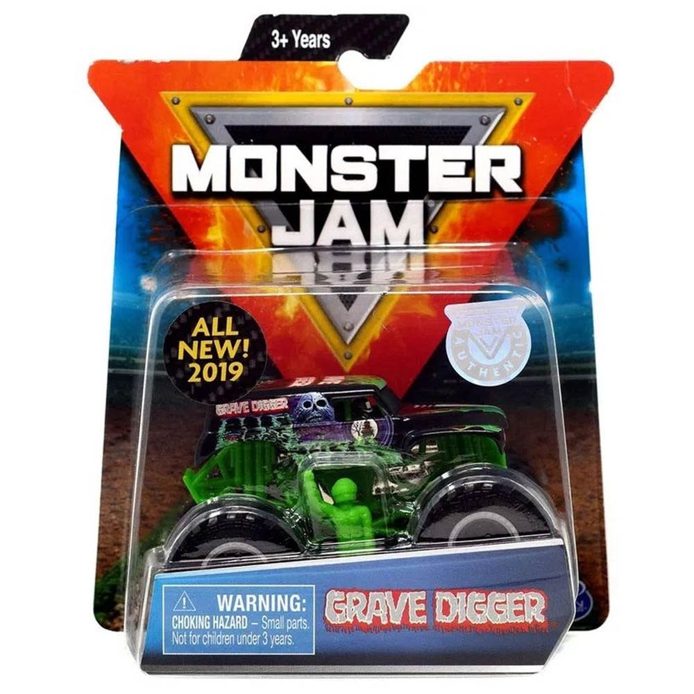Monster Jam - Escala 1:64 - Grave Digger Verde