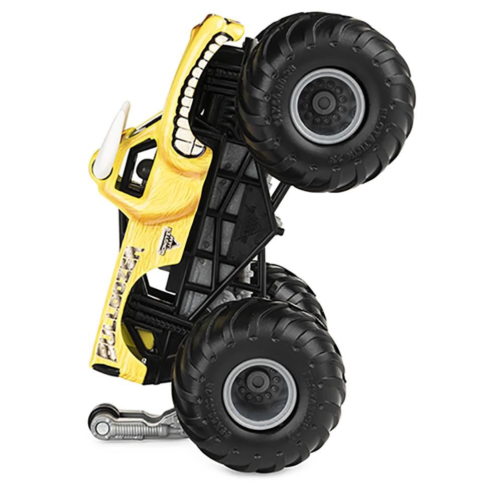 Monster Jam - Escala 1:64 - Miniveículo E Figura - Bulldozer