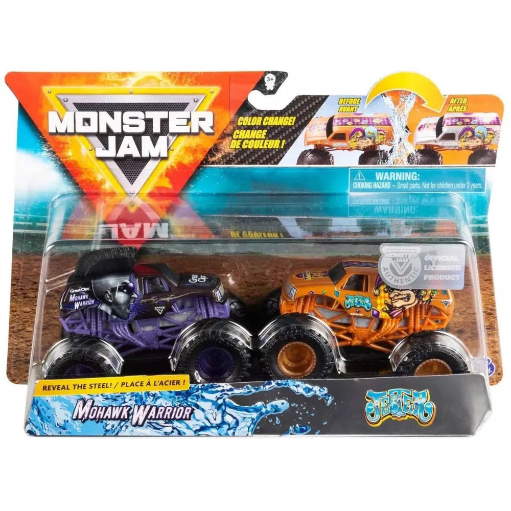 Monster Jam - Escala 1:64 - Mohawk Warrior E Jester