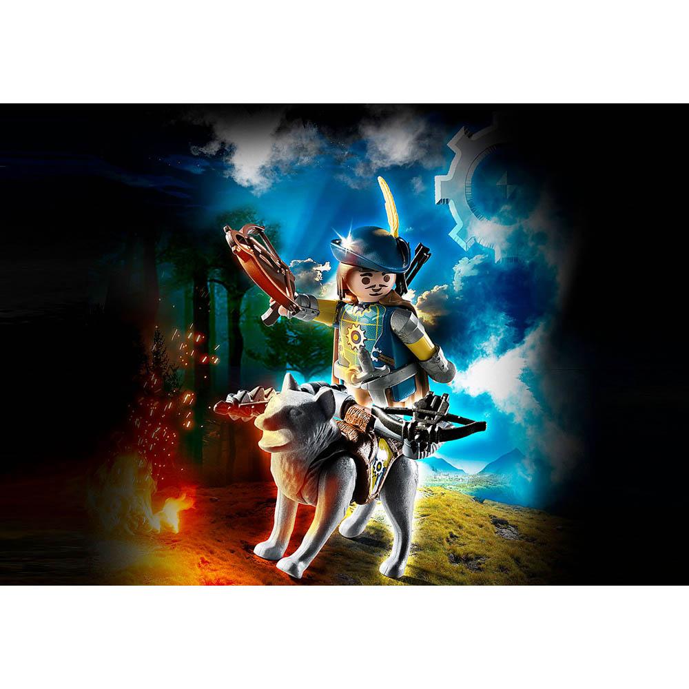 Playmobil - Besteiro De Novelmore Com Lobo