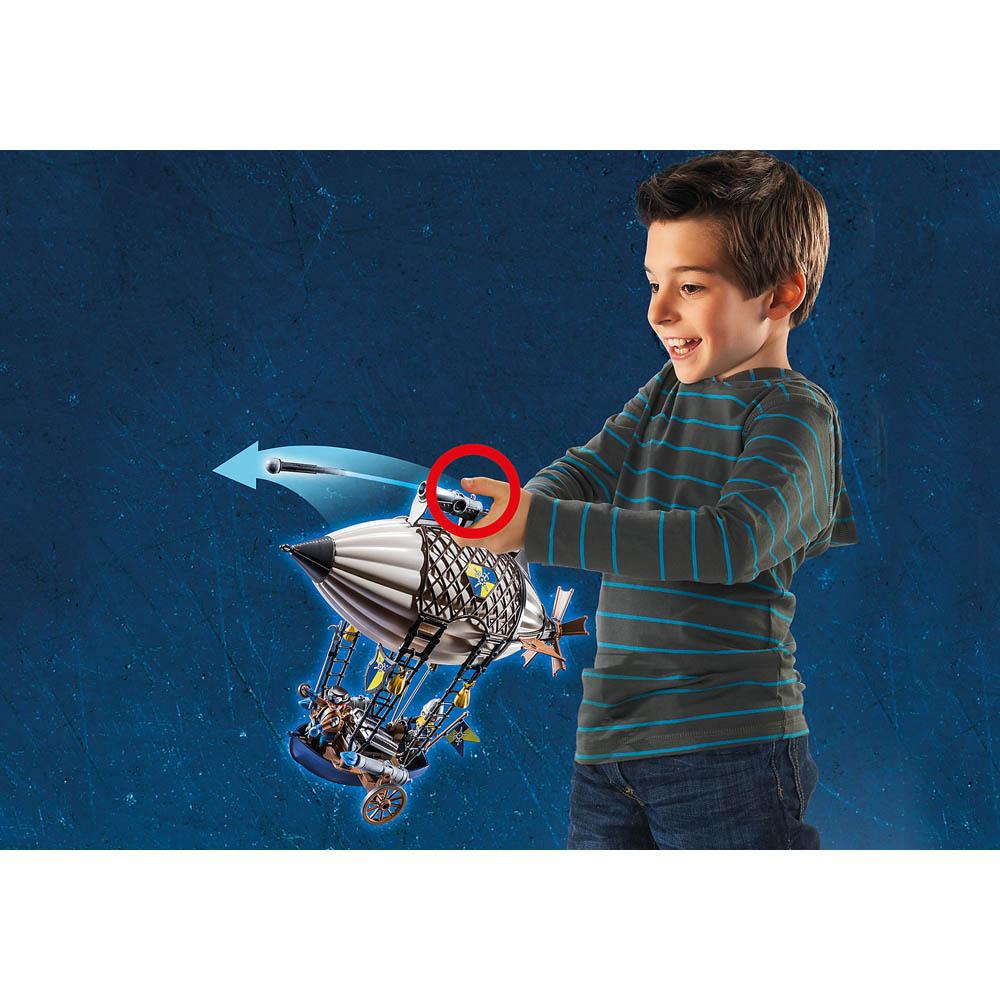 Playmobil - Cavaleiros De Novelmore Com Dirigível