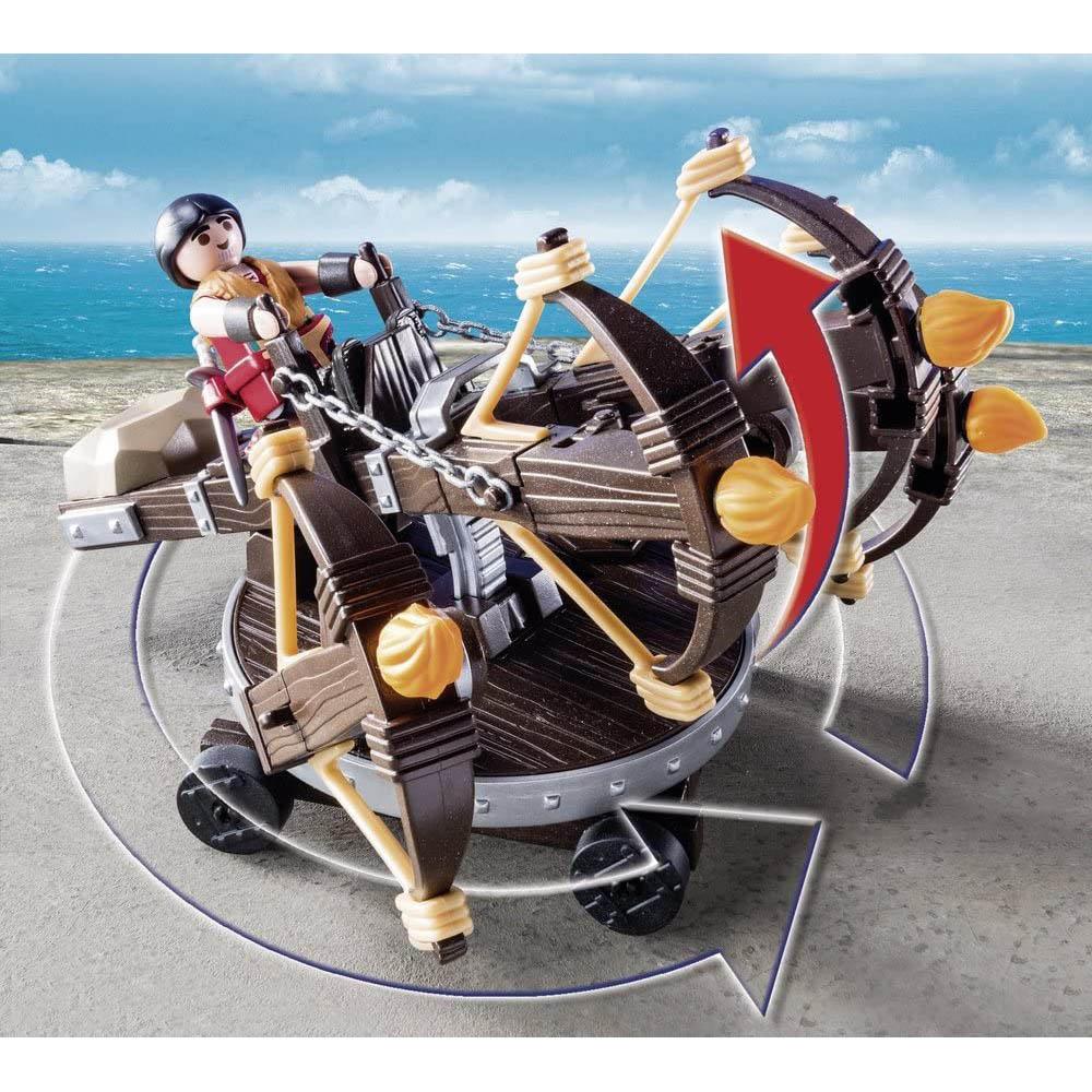 Playmobil - Dragões - Eret E Atiradeira Com 6 Lançadores