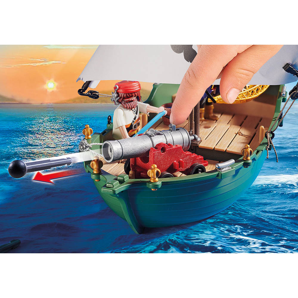 Playmobil - Navio Pirata Com Motor Subaquático